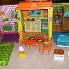 Barbie pop-up house... shared with my sisters.