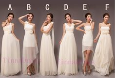 New arrival Cheap Bridesmaid dresses,  long bridesmaid dress Chiffon -6 styles availble on Etsy, $98.00