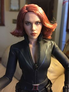 c1825913348 Hot Toys and other custom 1 6 scale figures · My Avengers Black Widow 1 6  figure Doll Repaint
