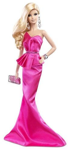 2014 Barbie Look Red Carpet 3 Pink Gown Adult Black Label New in Box | eBay