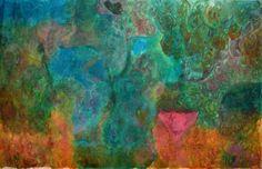 Mère de la forêt, Mères des arbres (Painting) by MAriska MA Veepilaikaliyamma Mère de la forêt, Mères des arbres et Terre-Mère- Danse  couleurs naturelles, tissu coton   Forest Mother, Tree Mothers and Earth Mother- Dancing  self-made natural colours on cotton cloth