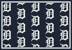 MLB Team Repeat Detroit Tigers Baseball Novelty Rug