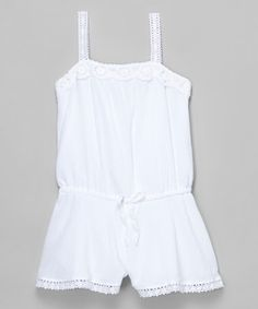 Love this White Lace Romper - Girls by Biscotti & Kate Mack on #zulily! #zulilyfinds