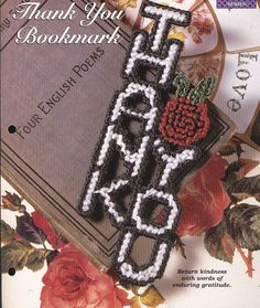 Thank You Bookmark Plastic Canvas Pattern by needlecraftsupershop, $3.00