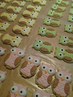 Baby shower owl cookies I made last night