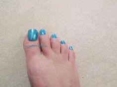 toe fake nails glitter blue green false nails tips toenails