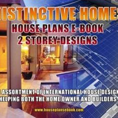 Two Storey House Plans Distinctive Homes double storey house | Etsy Contemporary House Plans, Modern House Plans, House Floor Plans, Double Storey House Plans, Interior Design Games, 2 Bedroom House Plans, Latest House Designs, Storey Homes, Level Homes