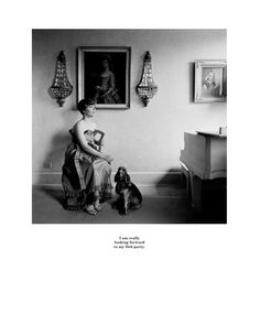 Belgravia by Karen Knorr. I am really looking forward to my Deb party.