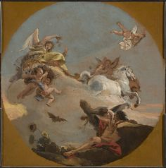 GIOVANNI BATTISTA TIEPOLO , 1696–1770- THE CHARIOT OF AURORA