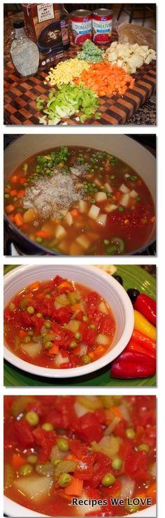 Fresh Veggie Soup | Recipes We Love