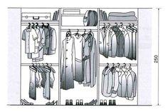 Dimension dressing, closet dimension: all our plans to draw your closet or closet Ikea Closet, Wardrobe Closet, Closet Bedroom, Walk In Closet, Dimension Dressing, Wardrobe Solutions, Dressing Room Design, Design Basics, Ikea Pax