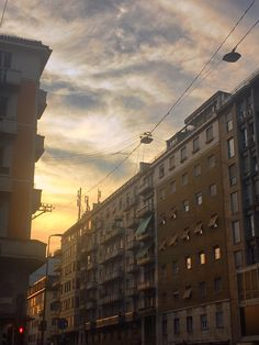 Milan in comparison to Venice almost seemed like a different world. Milan is such a metropolitan, professional city with everyone having places to be and people to see. City Life, Venice, Milan, Sunset, World, Building, Places, Sunsets, The World