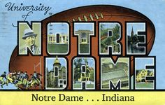 Greetings from the University of Notre Dame!