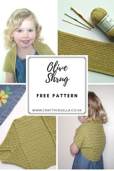 ff3fd1187a0 Olive Shrug ~ a free crochet pattern by Crafty Cruella  oliveshrug  crochet   crochetshrug