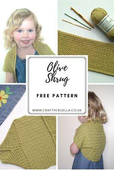 b8a0c5c0d67 Olive Shrug ~ a free crochet pattern by Crafty Cruella  oliveshrug  crochet   crochetshrug