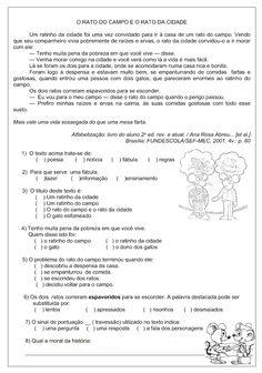 Atividades de interpretação de texto 4 ano para imprimir