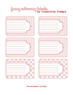 Roundup- Printable Labels for Jars and Canning