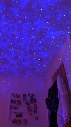 Neon Bedroom, Room Ideas Bedroom, Night Bedroom, Bedroom Inspo, Bedroom Wall, Bedroom Furniture, Bedroom Decor, Wall Decor, Galaxy Room