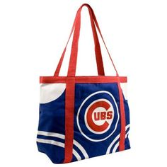 "MLB Chicago Cubs Canvas Tailgate Tote by Pro-FAN-ity by Littlearth. $10.26. Littlearth's Officially Licensed Canvas Tailgate Tote is great at the beach, on day trips or a quick weekend bag! Measuring 15.5"" Length x 6"" Width x 13.5"" Height this large heavy tote is the perfect bag for your tailgating party. Made of 100% Cotton this 14oz canvas features over-sized team logo in center front of tote. Tote is Team color knit cotton canvas with contrasting accents and handle. Interior..."