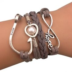 Beige Infinite Arm Party Bracelet
