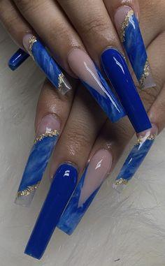 Acrylic Nails Coffin Pink, Long Square Acrylic Nails, Gold Nails, Dope Nail Designs, Cute Acrylic Nail Designs, Purple Ombre Nails, Yellow Nails, Acryl Nails, Drip Nails