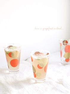 Grapefruit cocktails
