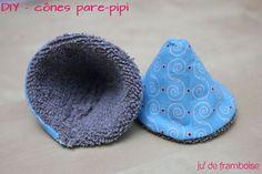 Un nouveau tutoriel / DIY pour aujourd'hui : fabriquer ses propres cônes pare-pipi. En future maman d'un petit garçon, toutes mes amies m'ont mise en garde : «prévois …