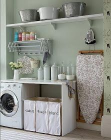 Have small laundry room? Got a boring laundry room? Need small laundry room design ideas? Don't worry, we're here to help you. Small Laundry, Laundry In Bathroom, Laundry Rooms, Laundry Area, Laundry Baskets, Laundry Closet, Basement Laundry, Laundry Sorting, Laundry Bags