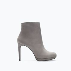 LEATHER PLATFORM BOOTIE-Ankle boots | ZARA United States