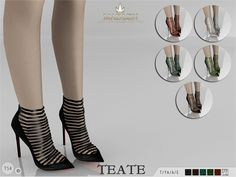 The Sims Resource: Madlen Teate Shoes by MJ95 • Sims 4 Downloads