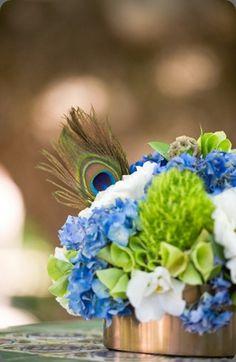 10 Ideas For Peacock Wedding Centerpieces Unique Style Peacock Wedding Centerpieces, Green Centerpieces, Wedding Decorations, Wedding Show, Art Deco Wedding, Our Wedding, Dream Wedding, Wedding Ideas, March Wedding Flowers