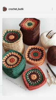 Granny Square Crochet Pattern, Crochet Granny, Crochet Motif, Crochet Designs, Knitting Designs, Crochet Stitches, Knitting Patterns, Crochet Patterns, Crochet Wool