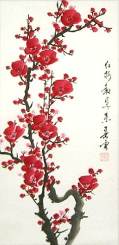63-red-plum-blossoms-brush-painting-d.jpg (242×500)