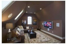 Man room will probably have this floor plan. Like the ideas of tv and seating