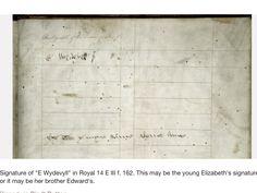 Signature of Elizabeth Woodville