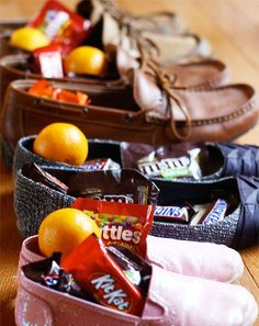 Leave candy in shoes in honor of St. Nicholas Day.