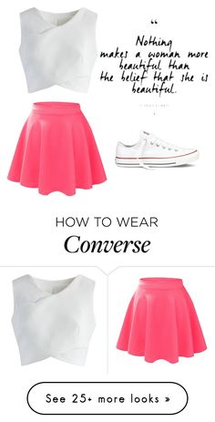 """Untitled #89"" by ajlaavdic10 on Polyvore featuring Chicwish, LE3NO and Converse"