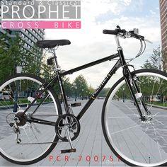 PROPHET プロフェトブランドより、シマノ製7段変速のクロスバイクが登場!シンプルで飽きのこないフォルムが特徴的。乗り心地抜群のサドルとロードタイヤを組み合わせは軽快な走行を実現しました。街乗りに最適な一台です。