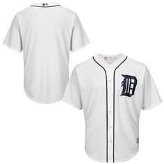 Detroit Tigers Majestic Cool Base YOUTH Home Jersey
