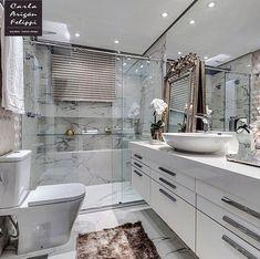 Noite inspiradora com este belíssimo banheiro by Carla Felippi. Amei Me encontre também no @pontodecor {HI} Snap:  hi.homeidea  http://ift.tt/23aANCi #bloghomeidea #olioliteam #arquitetura #ambiente #archdecor #archdesign #hi #cozinha #sabado #homestyle #home #homedecor #pontodecor #iphonesia #homedesign #photooftheday #love #interiordesign #interiores  #picoftheday #decoration #world #varandagourmet  #lovedecor #architecture #archlovers #inspiration #project #regram #outubrorosa