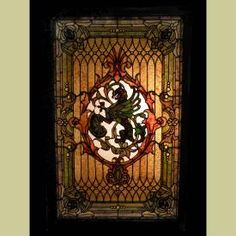 WOW I love this...Stained Glass Griffins Pair 0209   Price: $18,500.00