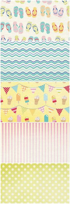 Get in the mood for the beach with these free printable papers!