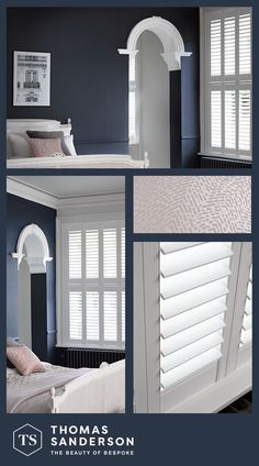 Contemporary shutters are the perfect way of creating a feeling of powerful performance in your home Contemporary Shutters, Home Bedroom, Bedroom Decor, Living Room Decor Inspiration, Home Fashion, Bedroom Colors, Living Room Designs, New Homes, House Design