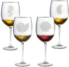 Mix & Match Coastal Wine Glasses: http://www.oceanofferings.com/mixed-apwine.html
