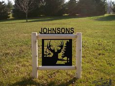 WHITETAIL DEER-CLINGERMANS OUTDOOR SIGNS-RUSTIC LOG DECOR-SIGNS-WILDLIFE ART*