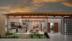 Ideas Exterior Home Modern Rustic Backyard Pool Designs, Small Backyard Gardens, Backyard Garden Design, Balcony Design, Home Room Design, House Design, Siding Colors For Houses, Small Modern Home, Exterior Remodel