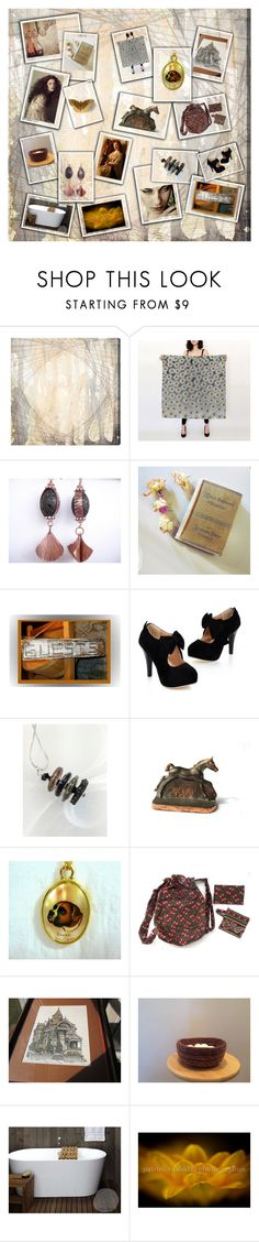"""""""426 N Galena Street"""" by jarmgirl ❤ liked on Polyvore featuring Oliver Gal Artist Co., Hostess, rustic and vintage"""