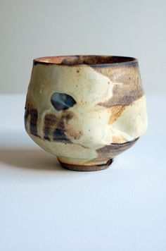 indented yellow chawan by ralphnuara