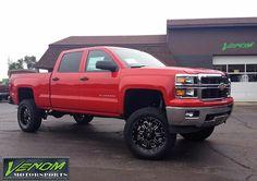 "2014 Chevy Silverado with 6"" Pro Comp suspension, RBP wheels, and Toyo A/T II tires.  Venom Motorsports - Grand Rapids, Michigan (616) 635-2519"