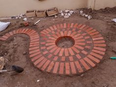 Bricks patio round garden ideas – Garden Design ideas - How to Make Gardening Brick Garden, Garden Paths, Pergola Patio, Backyard Patio, Patio Planters, Patio Design, Garden Design, Big Leaf Plants, Brick Patios